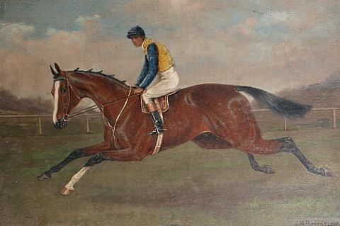 race horse jockey pair by alfred moginie bryant