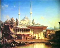 the mihrimah sultan mosque (known as iskele cami), in    uskudar/scutari on the asiatic shore of the bosphorus by etienne raffort