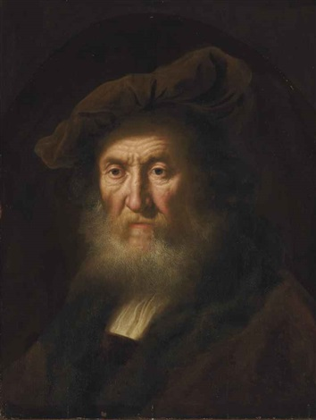 head of an old man bust length by salomon koninck