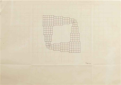 working drawing for structure by sol lewitt