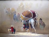 la caravane dans les vents du désert by hocine ziani