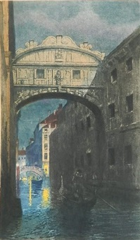 bridge of sighs, venice by george e. senseney