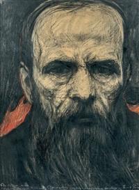 portrait de dostoïevski, paris by ilya glazunov