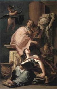 a personification of the arts by giovanni raggi