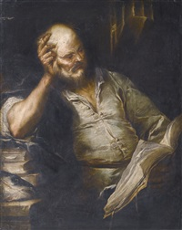 a philosopher by luca giordano