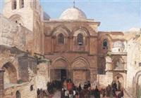 the holy sepulchre, jerusalem by georg macco