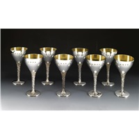 goblets (set of 8) by christopher lawrence