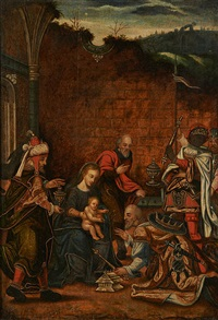 l'adoration des mages by flemish school (17)