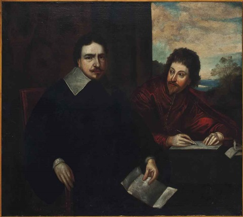 portrait of thomas wentworth 1st earl of strafford 1593 1641 with sir philip mainwaring 1580 1661 by sir anthony van dyck