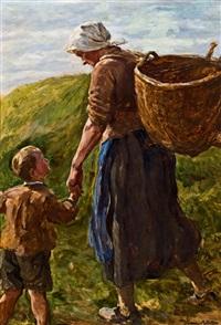 bauernfrau mit kind by rudolf böttger