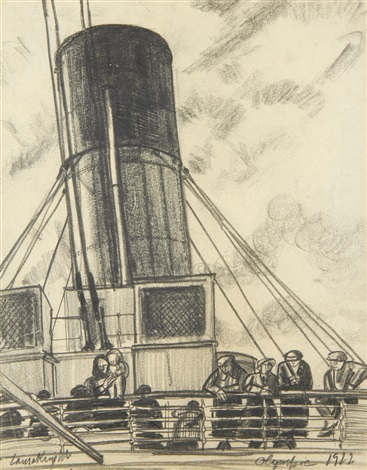 on the olympic by dame laura knight