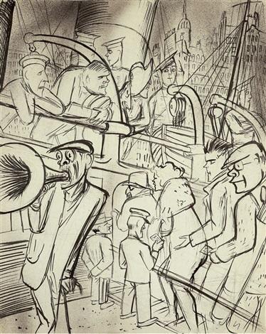 arche noah reed pen sketch of landscape verso by karl hubbuch on artnet