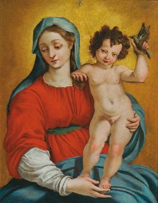 madonna mit kind madonna con bambino by perino del vaga