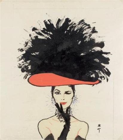 clin doeil au chapeau rouge by rené gruau