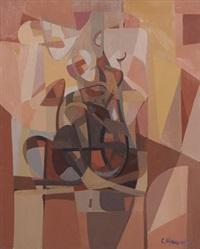 abstraction rouge/orange by carlo marangio