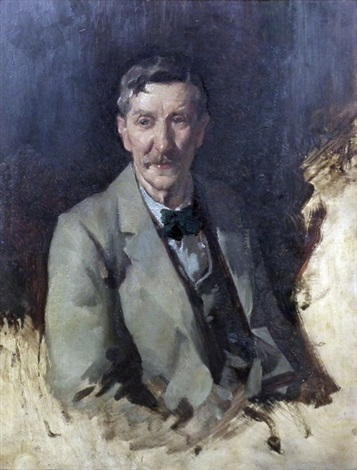 half length portrait of mr james bow dunn 1861 1930 by david alison