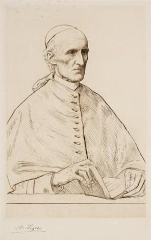s e le cardinal manning archevêque de westminster by alphonse legros
