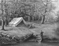 setting up camp by hugo a. possner