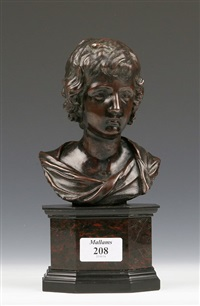 bust of the young christ by francois du quesnoy