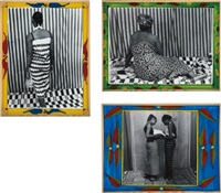 vues de dos (3 works) by malick sidibé