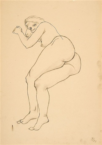 liegender weiblicher akt by george grosz