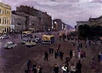 perspective nevsky by victor korovin
