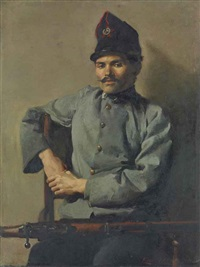 the italian soldier by eric henri kennington