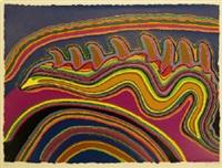 jurtirangu; kalpurtu watersnakes; kurntumaru & parnapa (3 works) by jimmy pike