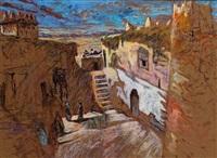 dans la cour protégée de la kasbah, vallée du dadès by patrice laurioz