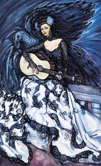lady with a guitar (portrait of rosita serrano) by gyula batthyány