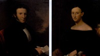 portrait of colonel samuel edmiston watson (+ portrait of mrs. samuel edmiston watson; pair) by joseph greenleaf cole
