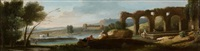 paysages des environs de rome (pair) by paolo anesi