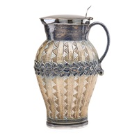 lidded pitcher with geometric design by robert wallace martin