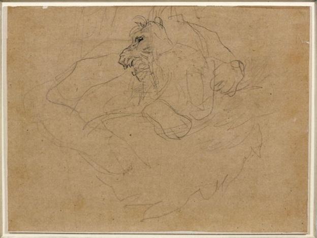 lion rugissant by théodore géricault
