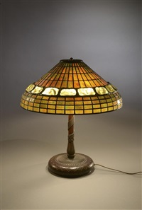 lampe de table turtleback belt by tiffany studios