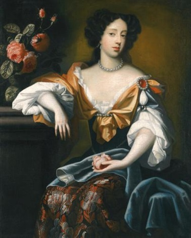 portrait of mary of modena 1658 1718 by simon pietersz verelst