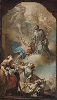 the ascension of saint leonard (bozzetto) by d. francisco bayeu y subias