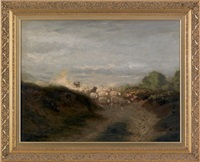 untitled (a bucolic landscape with sheep) by arthur parton