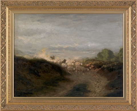 untitled a bucolic landscape with sheep by arthur parton