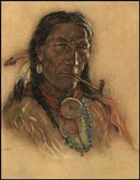 indian chief by nicholas de grandmaison