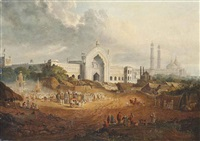 the muharram procession to the great imambara, lucknow by robert (col.) smith