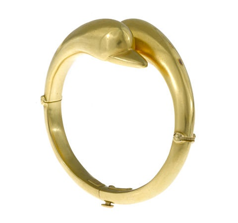 a swan bangle bracelet by lalaounis