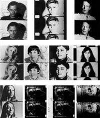 screen test (set of 11) by gerard malanga and andy warhol