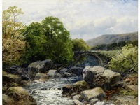 old bridge on the dulas, south wales by john brandon smith