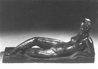 a reclining nude by charles leplae