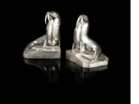 walrus bookends (pair) by george h laurent