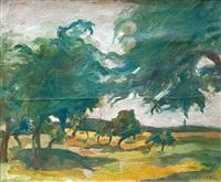 paysage aux arbres by serge fotinsky