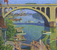 under the arch, key bridge, georgetown by garnet w. jex