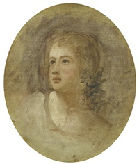 portrait of girl by george romney