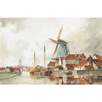 a dutch harbour by louis van staaten